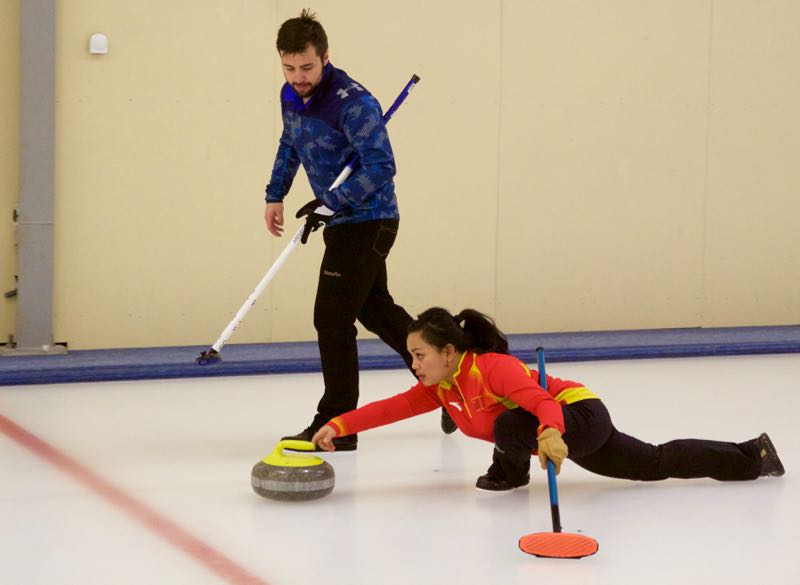 Brett Sargon and Eleanor Adviento, Day 1 of NZ Mixed Doubles