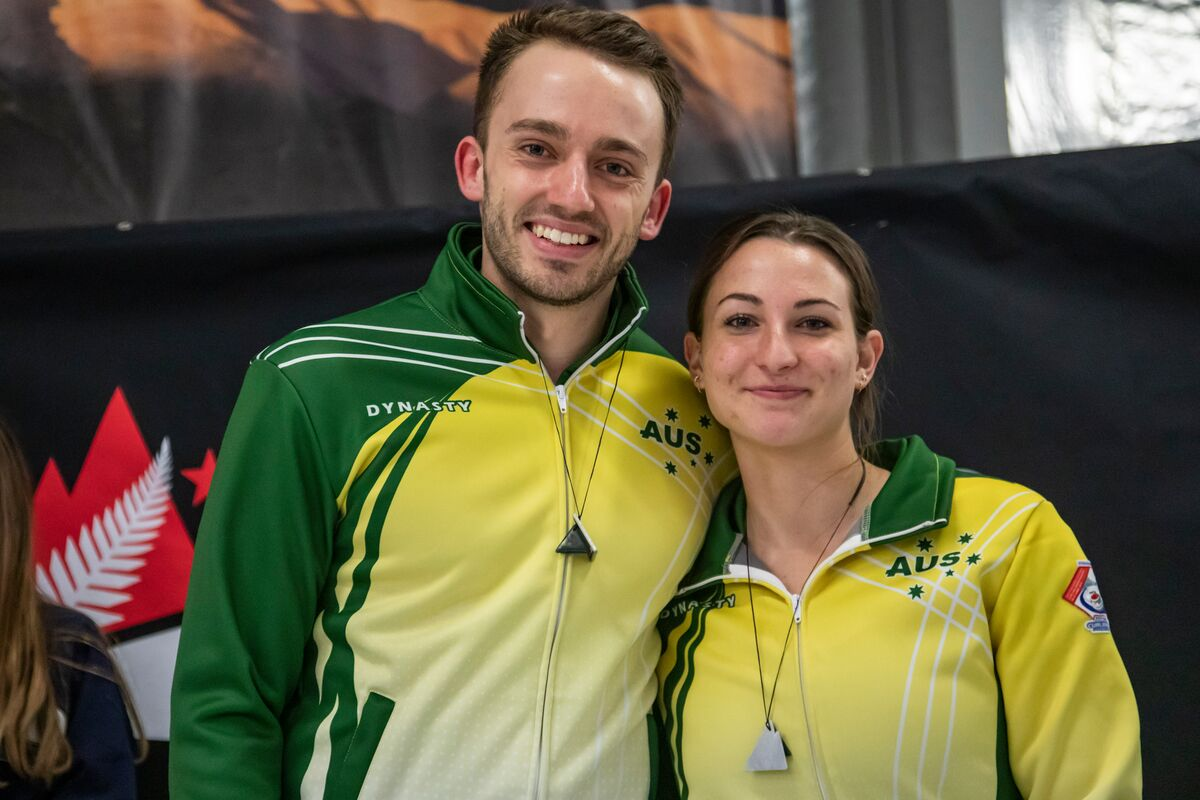 Silver medallists Dean Hewitt and Tahli Gill, Australia