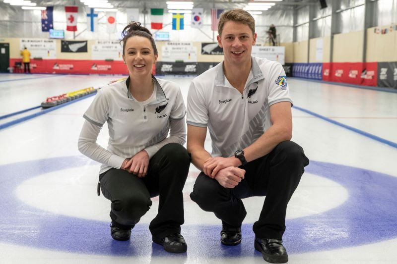 Jess Smith and Ben Smith at the 2019 Winter Games NZ