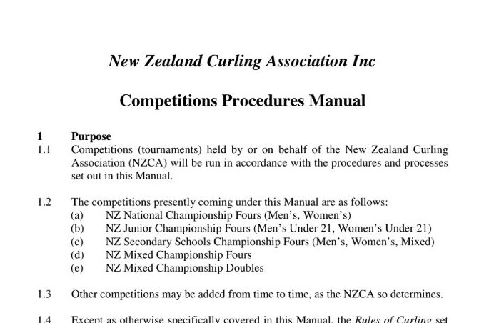 NZ Competition Procedures